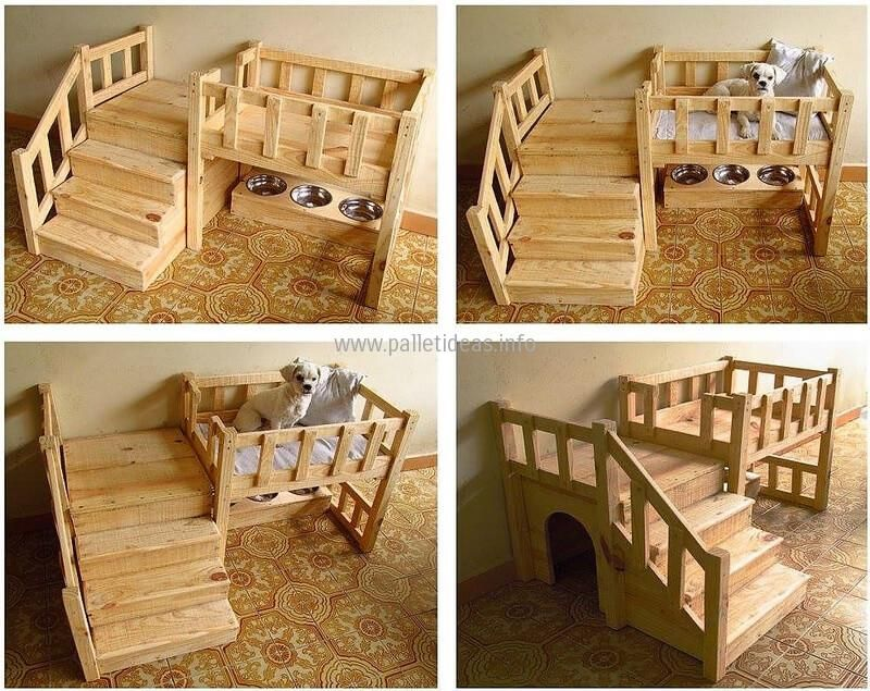Reuse Your Dumped Pallets To Create Something Like These Dog Bed Dog Furniture Pallet Dog Beds