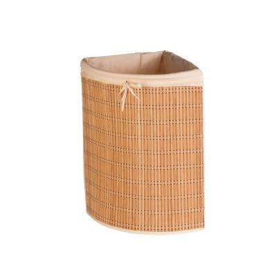 Bamboo Wicker Corner Laundry Hamper Laundry Hamper
