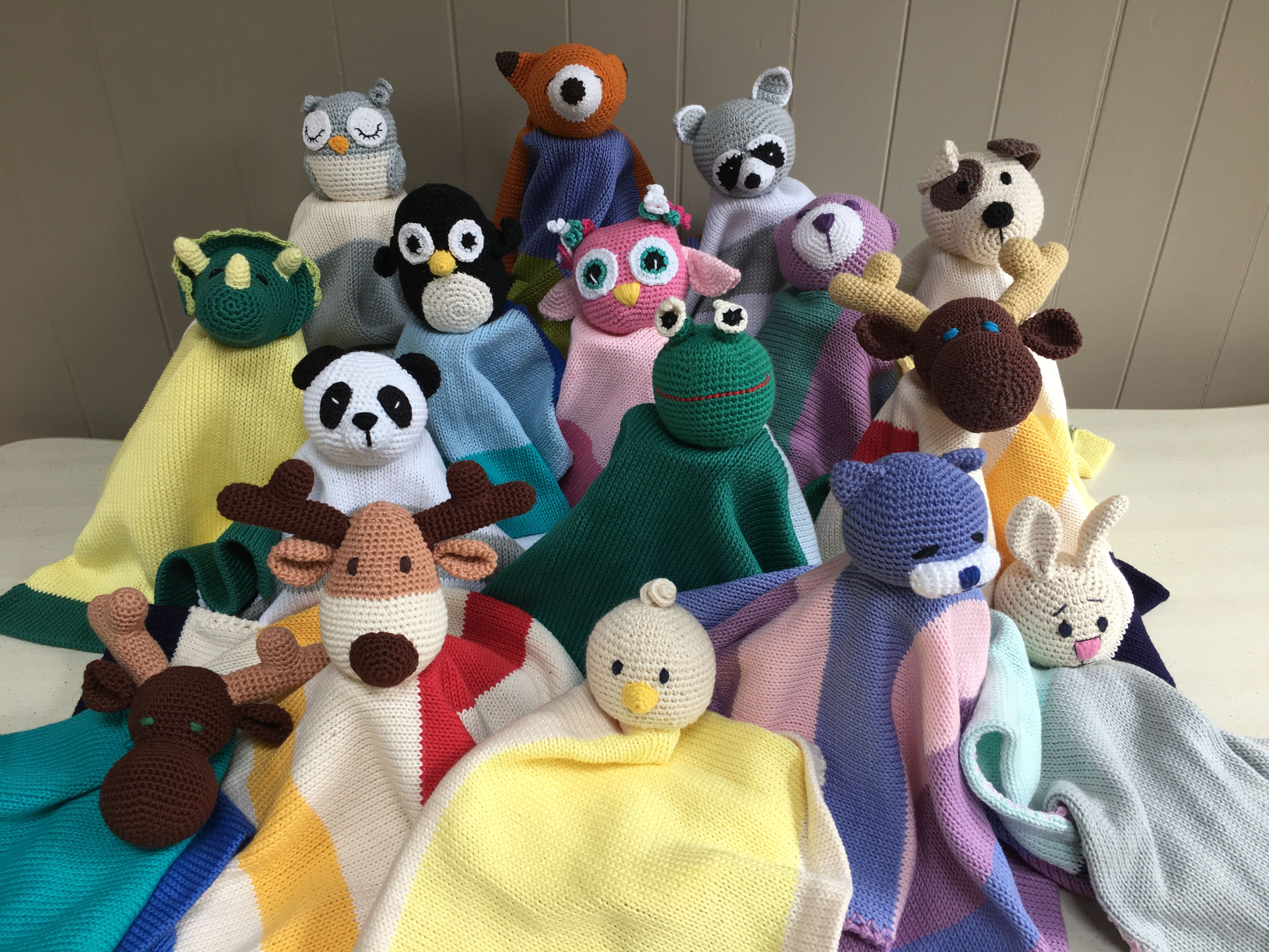 My family of crochet cotton loveys is growing.... 30 EACH
