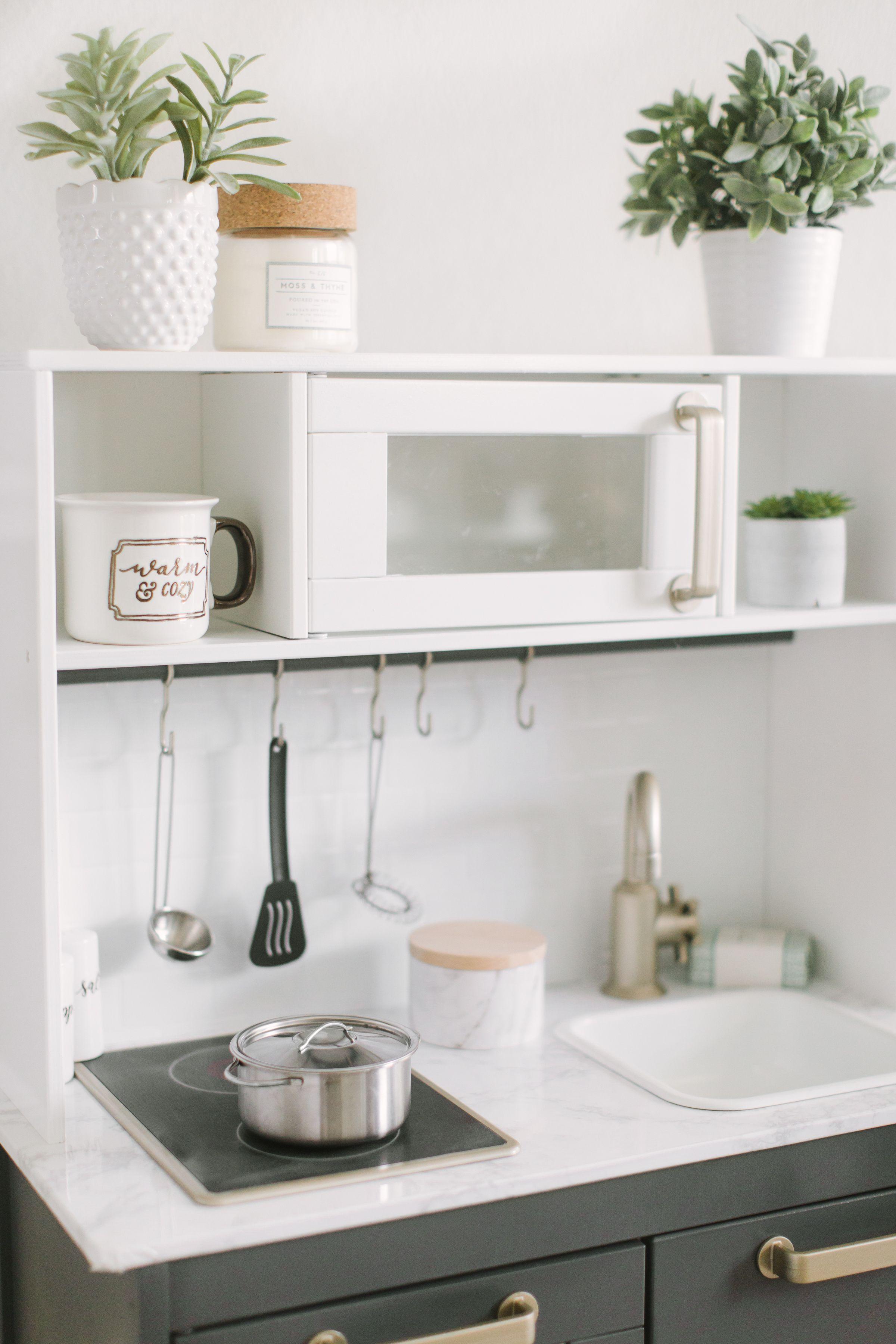 Ikea Play Kitchen DIY Makeover Ikea play kitchen, Diy