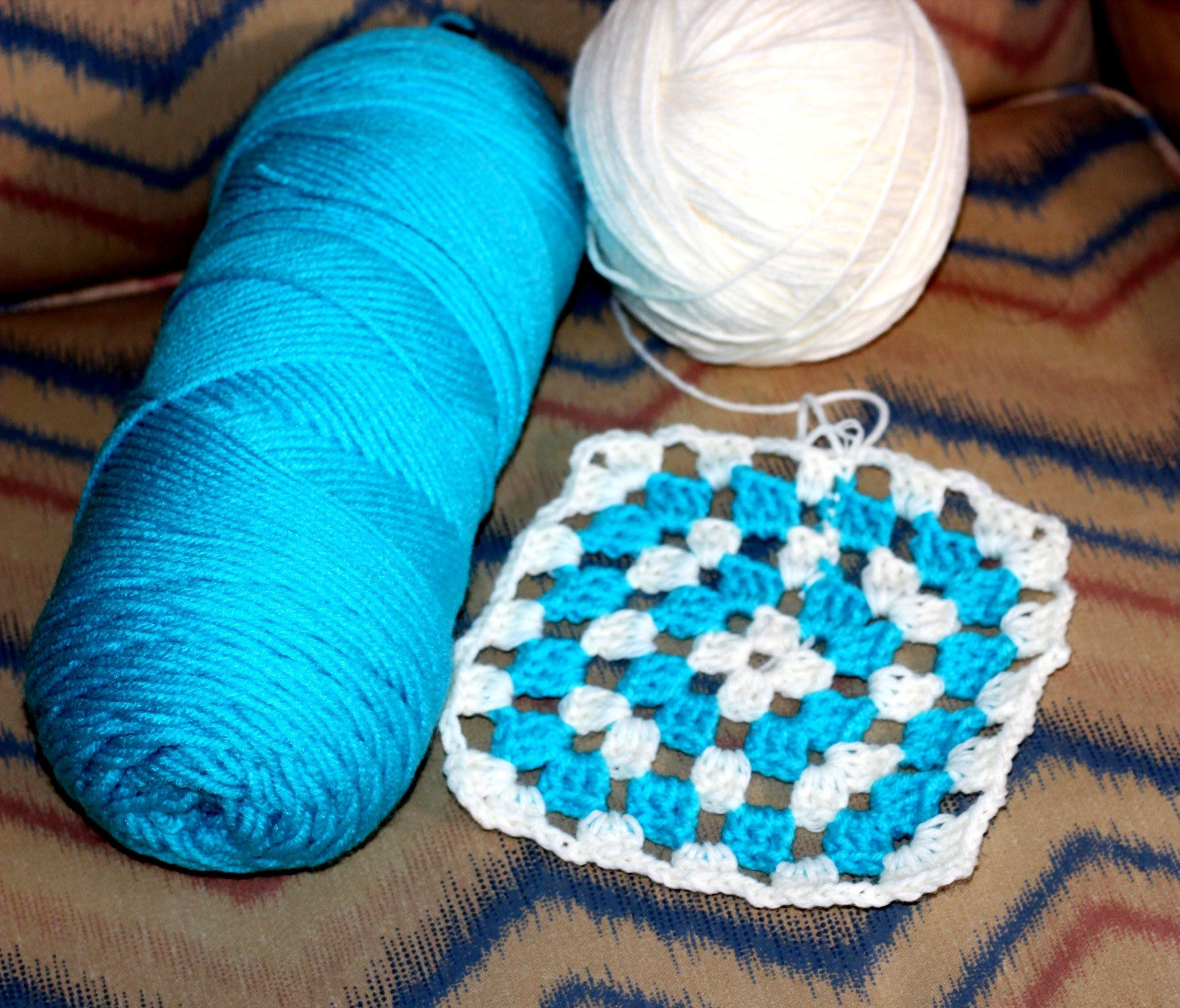 How To Crochet for Beginners: Easy Afghan/Throw/Blanket https://www ...