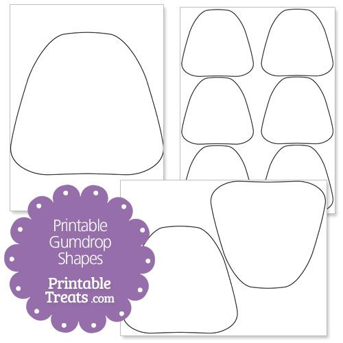 Free Printable Gumdrop Shapes Candy Christmas Decorations Candyland Decorations Gingerbread House Decorations