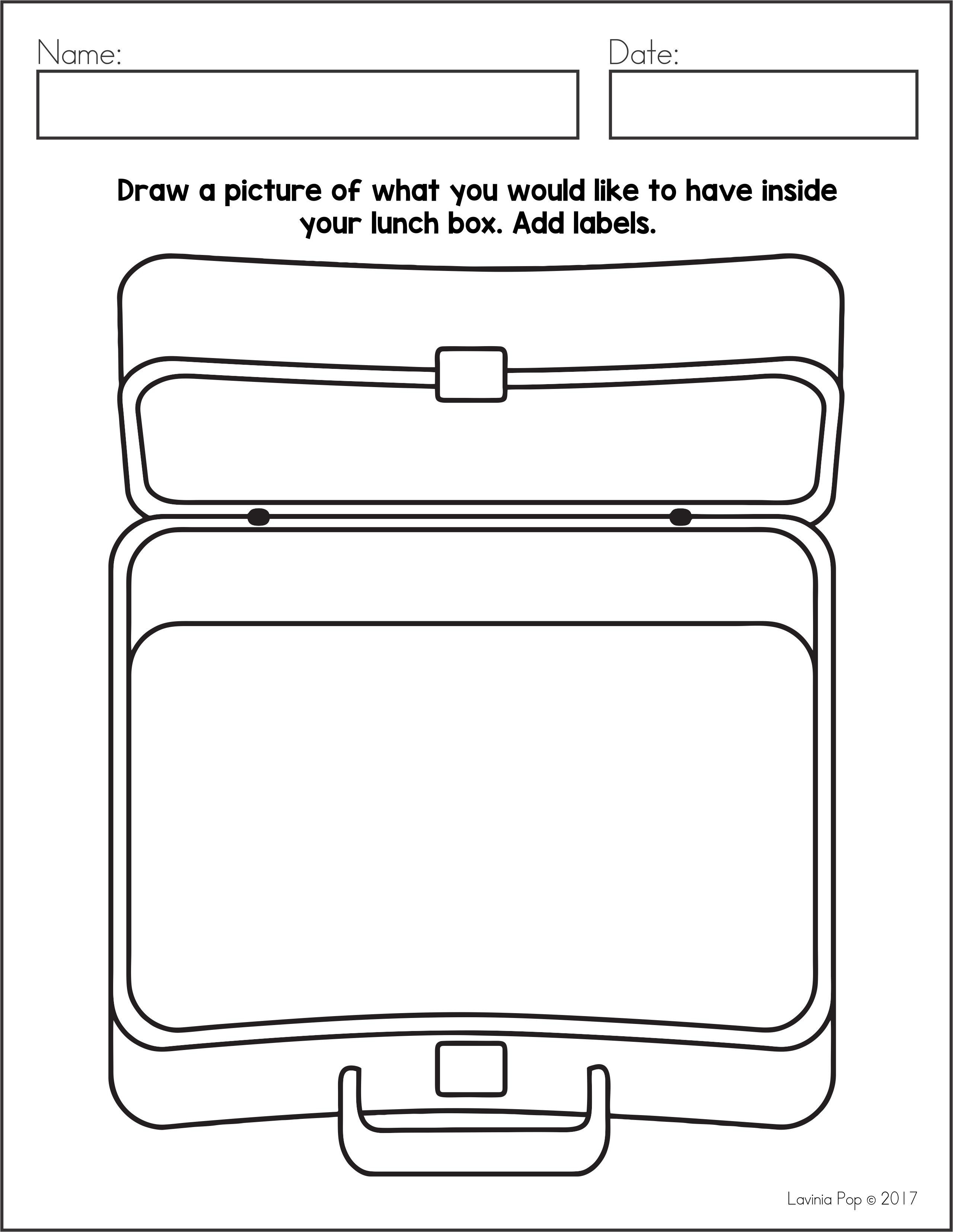 Free Writing Journal Prompts Sampler Draw A Picture Of What You Would Like To Have Inside Your Lunch B Writing Worksheets Journal Writing Kindergarten Writing [ 3310 x 2560 Pixel ]