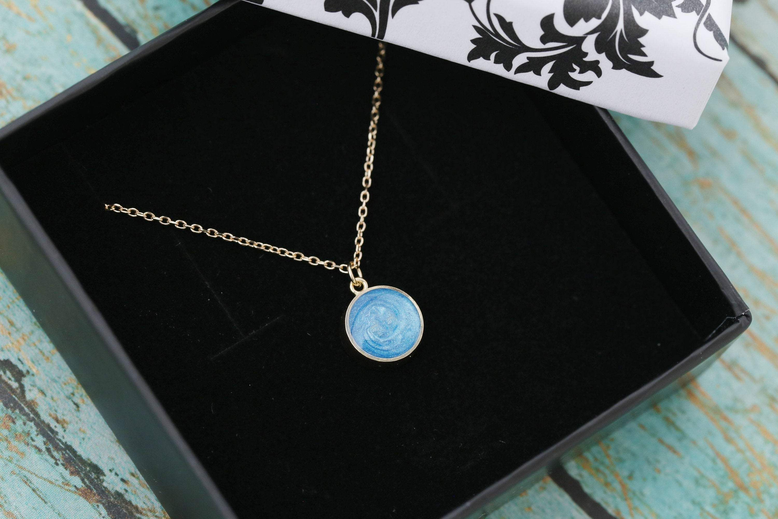 8mm 14k Gold Cremation Necklace