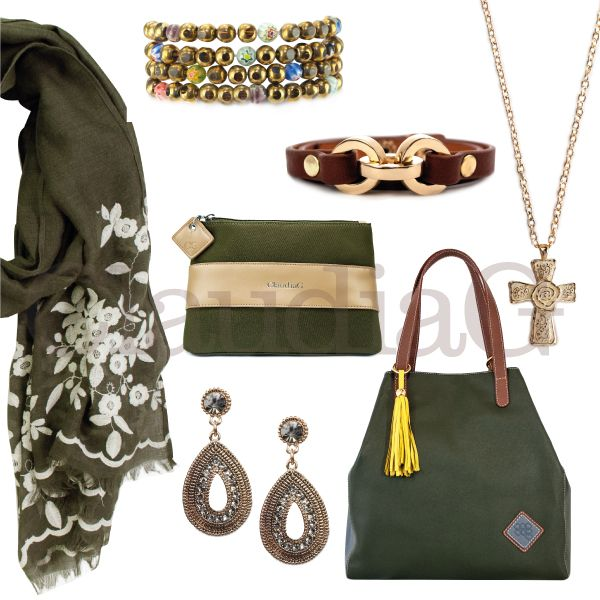 LOOK 6, Olive Green and Sienna - ClaudiaG Collection