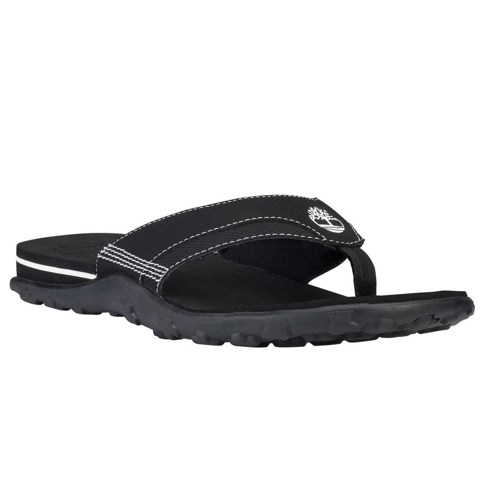 806f6a43661 Timberland Men s Fells Thong Sandals Flip Flops Slipper Slide Black  6525A   Timberland  FlipFlops