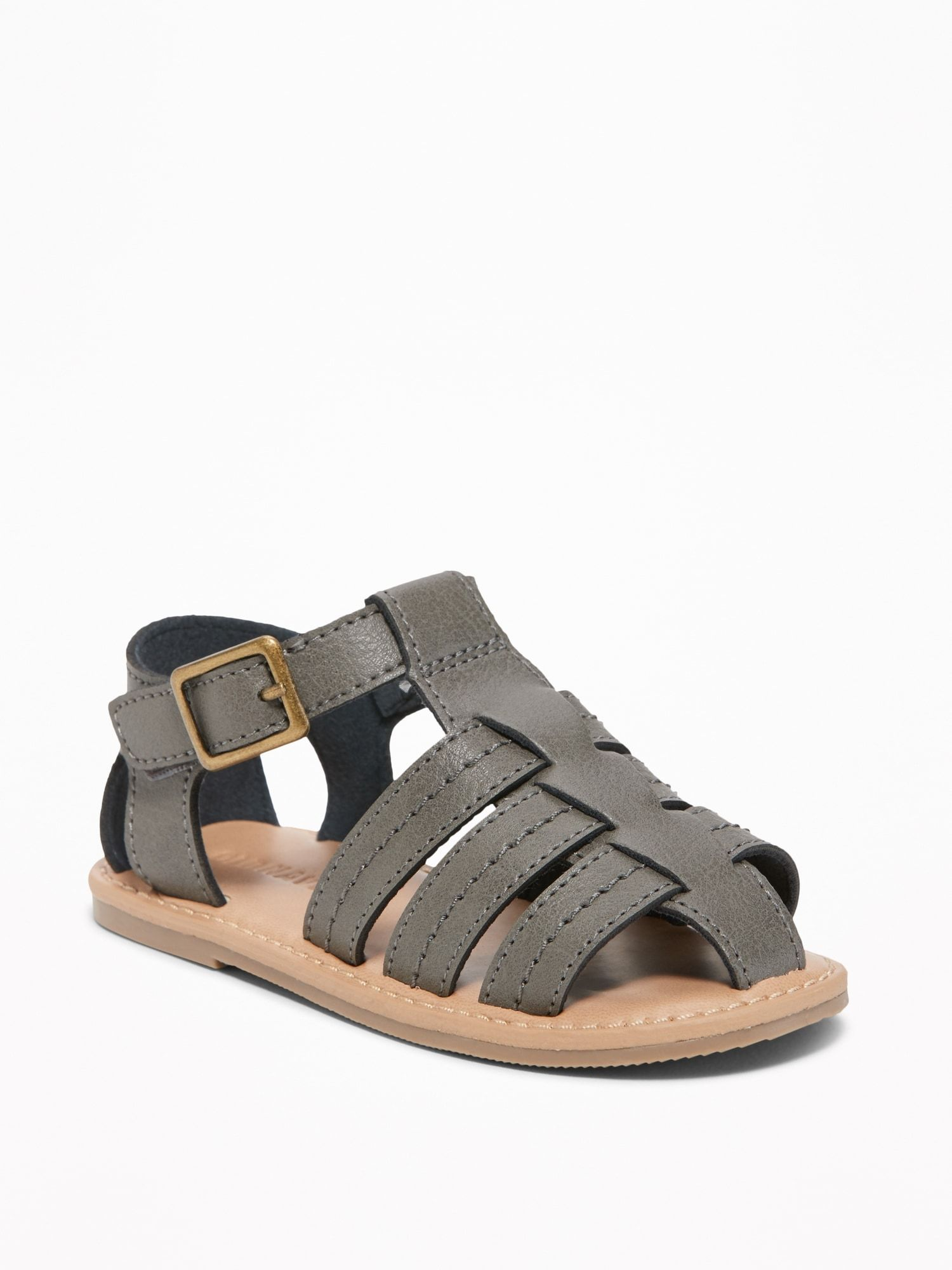 Faux Leather Fisherman Sandals For Toddler Boys Old Navy Fisherman Sandals Rubber Heels Fisherman Sandal