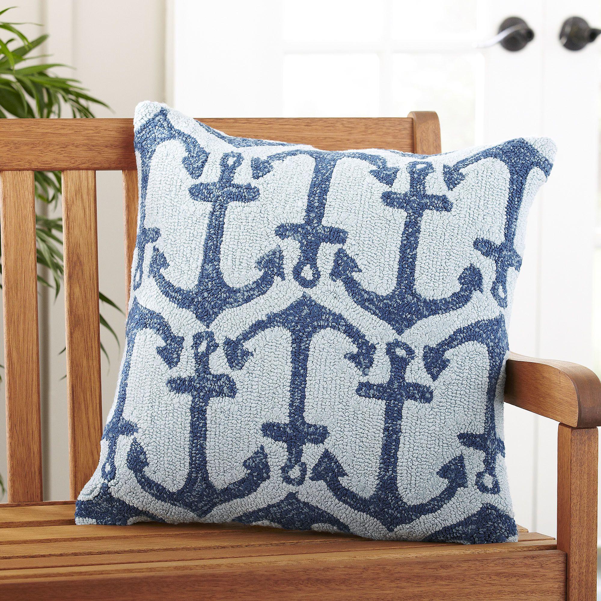 Blue anchor outdoor pillow outdoor pillow covers