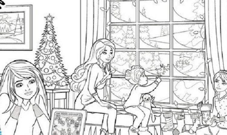 Barbie Dream House Coloring Pages Christmas Coloring Pages Coloring Pages Free Kids Coloring Pages