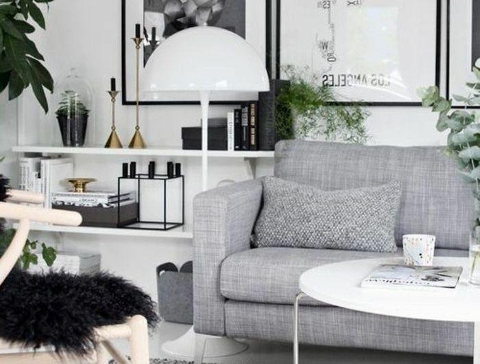 Un salon en gris et blanc, c\u0027est chic! Voilà 82 photos qui en