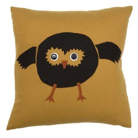 wol - Owl Cushion by Nadia Sparham