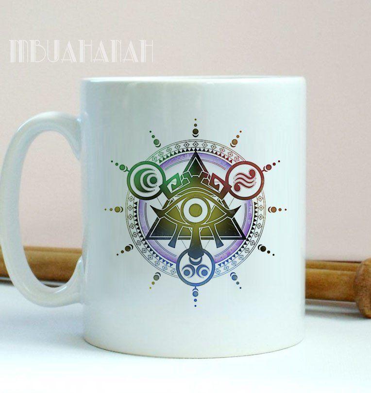 Zelda All Seeing Eye Logo Illuminaty, Design Mug, Size 9.5cm x 8.2cm 11oz Mug