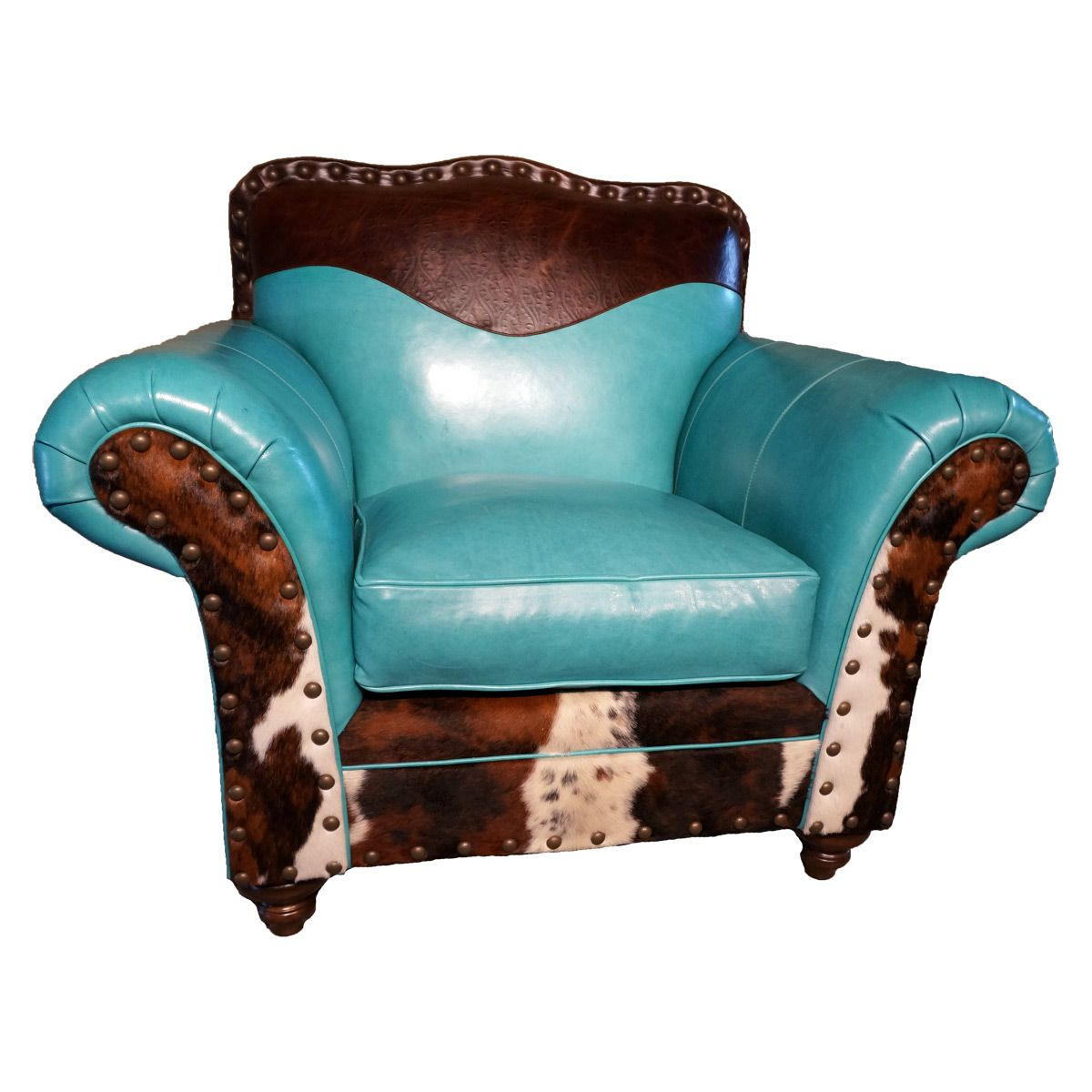 turquoise chairs leather wedding chair covers for hire glasgow cowhide club heavenly home decor