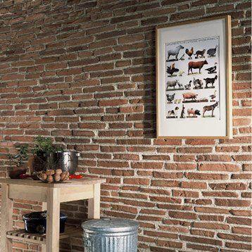 Plaquette De Parement Toscane En Beton Rouge Briquette De Parement Briquette Rouge Parement Mural Interieur