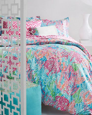 Lilly Pulitzer Perfectly Printed Percale Bedding Collection And