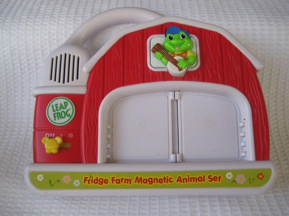 Leap Frog FRIDGE PHONICS Farm Magnetic Animal Barn Base Unit Replacement  Part #LeapFrog