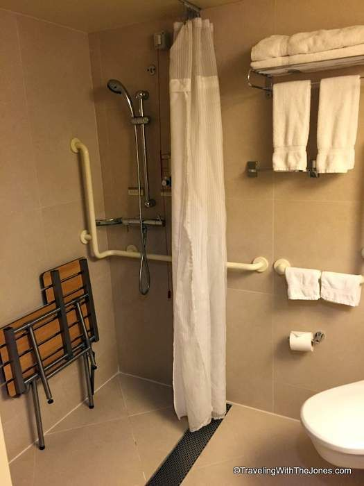 shower, wheelchair accessible, cabin 2555, ms Rotterdam cruise ship ...