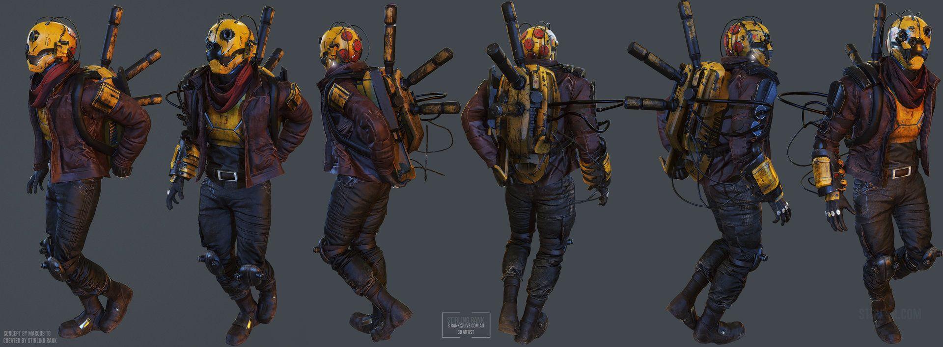 """ArtStation - TEK - """"Hackwave"""" Character Art, Stirling Rank"""