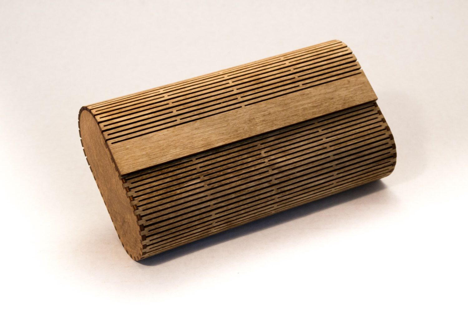 Wood Clutch Purse Laser Cut Living Hinge Light Walnut