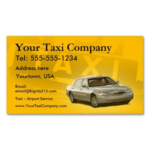 Taxi Customizable Business Cards Zazzle Com In 2021 Customizable Business Cards Business Cards Taxi