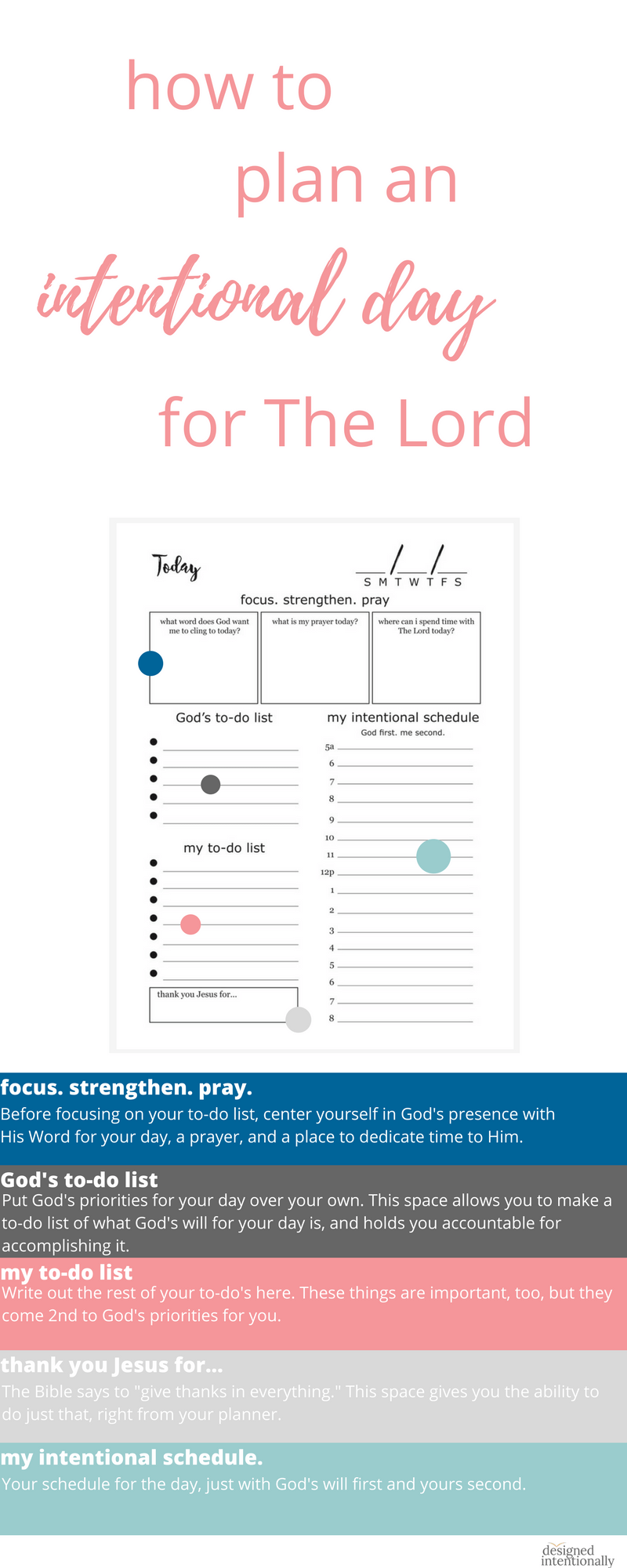 Try The Designed Intentionally Planner For Free With Sample Daily And  Monthly Planner Printables.