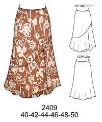 5de17ce60 Modelos de falda para señoras | Sewing | Faldas, Faldas para señoras ...