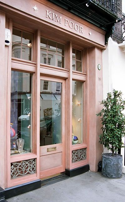 Kim Poor A Pink Store Front In London Shop Fronts Shop Front Design Boutique Store Front