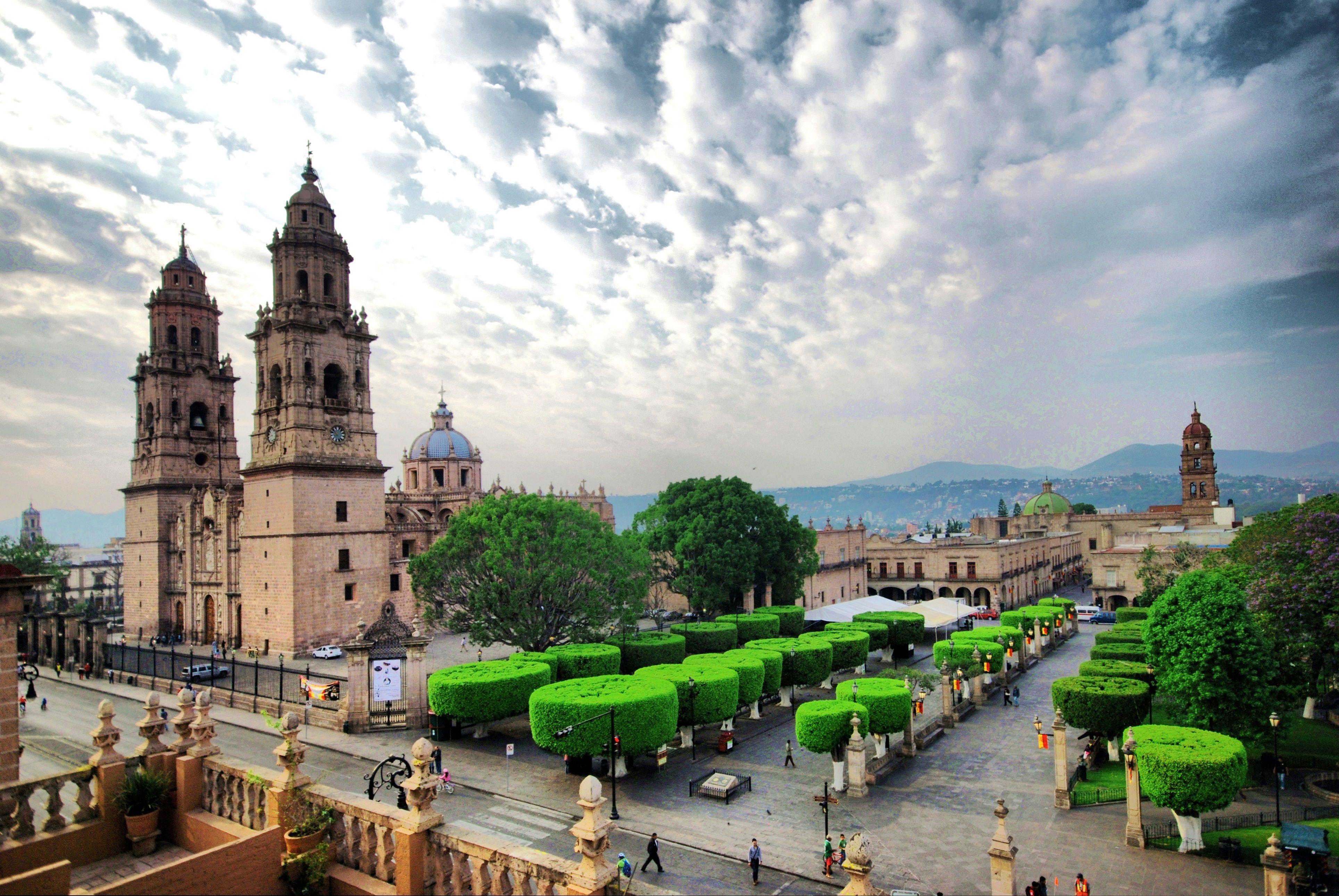 Centro de Morelia, capital del estado de Michoacán