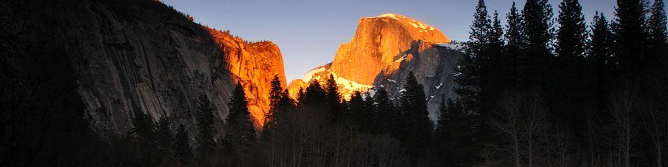 View of Half Dome and Washington Column in Yosemite Valley, Yosemite National Park