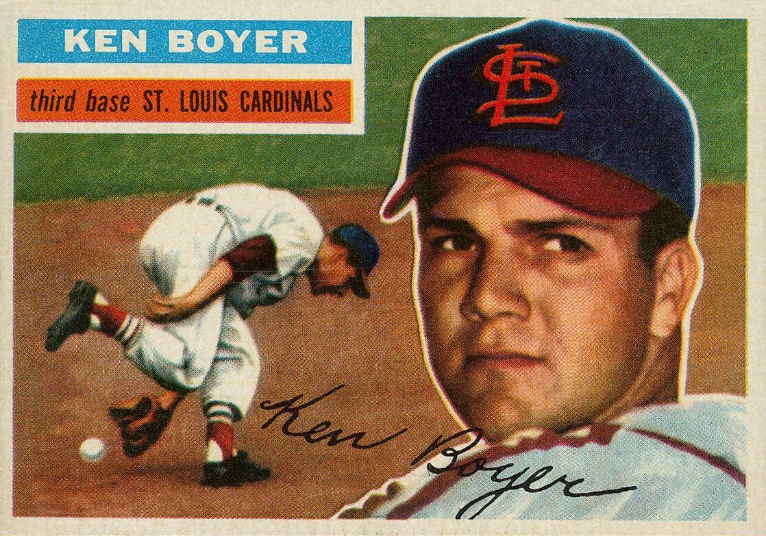 Ken Boyer Topps 1956 Baseball Cards Old Baseball Cards Baseball Card Values