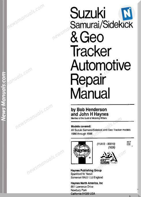 Suzuki Samurai Service And Repair Manuals en 2020