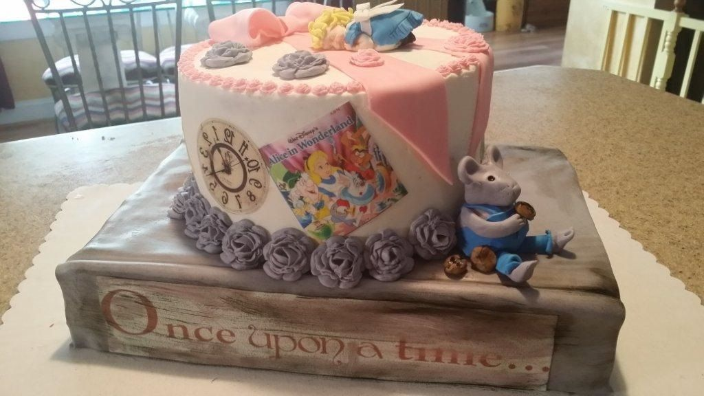 Story book Shower cake