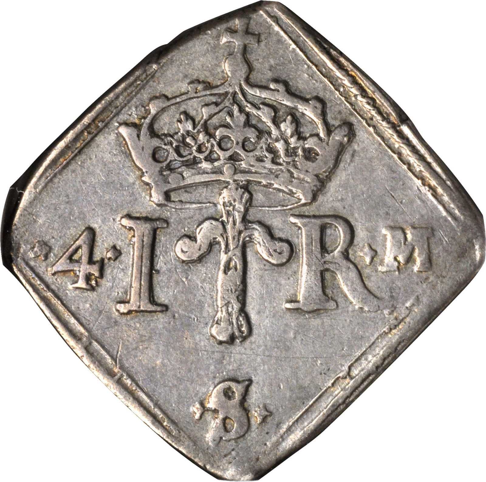 COIN, Sweden, Johan III (1568-92), 4 Mark Klippe, 1570