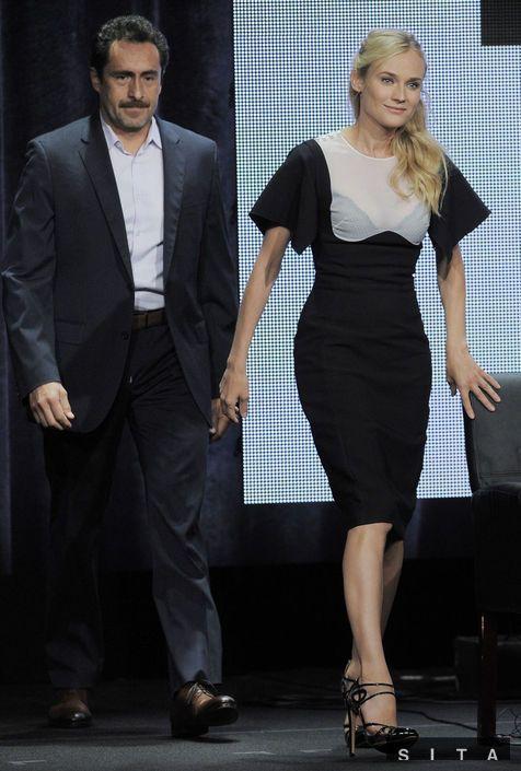 Diane Kruger in Antonio Berardi - 'The Bridge' Panel Discussion in Beverly Hills, California.  (August 2013)