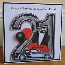 Personalised Handmade Male 21st Birthday Card Special Son Grandson Brother