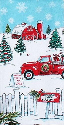 Kay Dee Designs Home For Christmas Holiday Truck Flour Sack Dish Towel