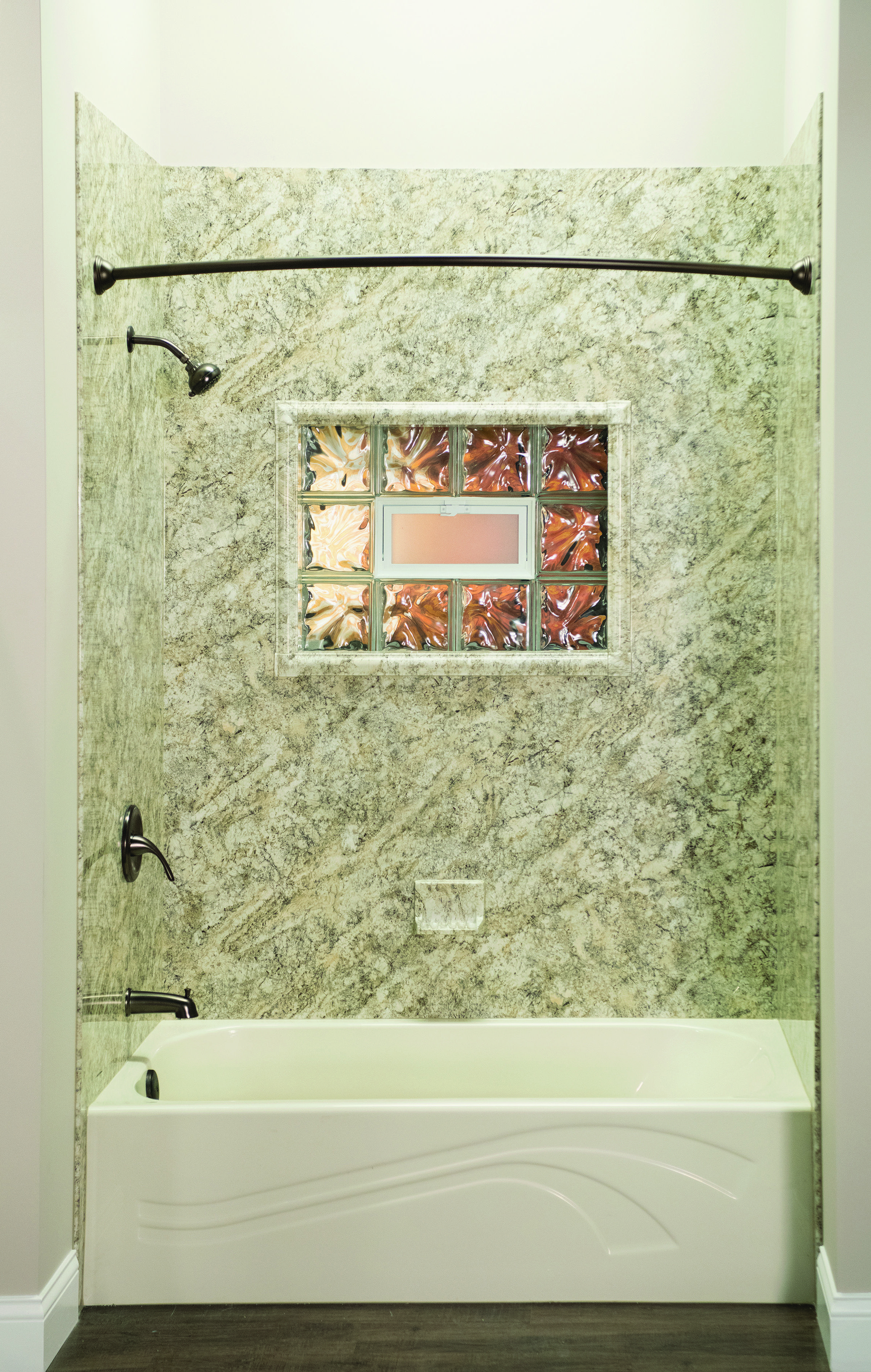 Premier Bathroom Design Platino Granite Wall Surrounds And Wave Bathtub  Luxury Bath