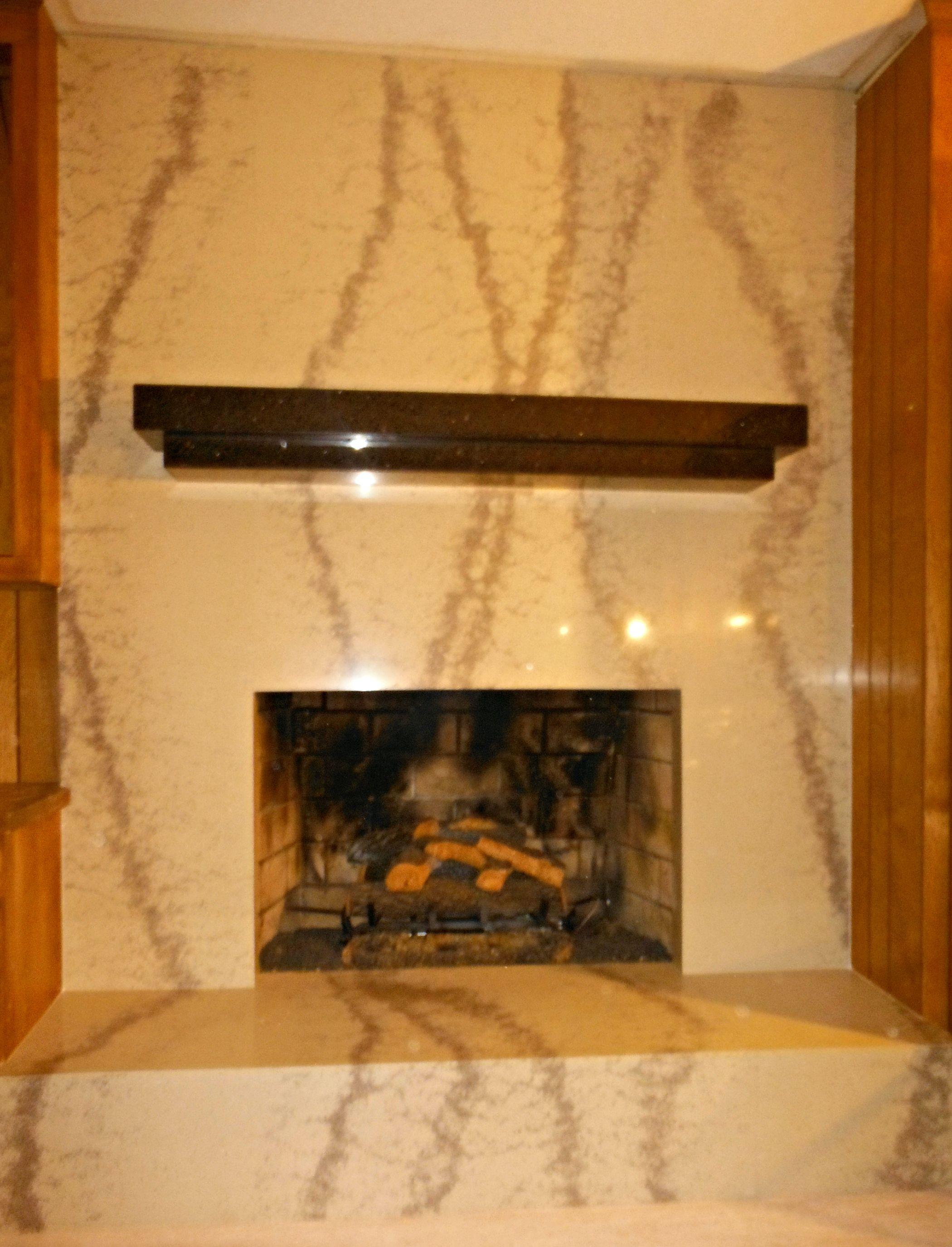 Rainforest Brown Serpentinite/Granite Fireplace Surround. Via ...