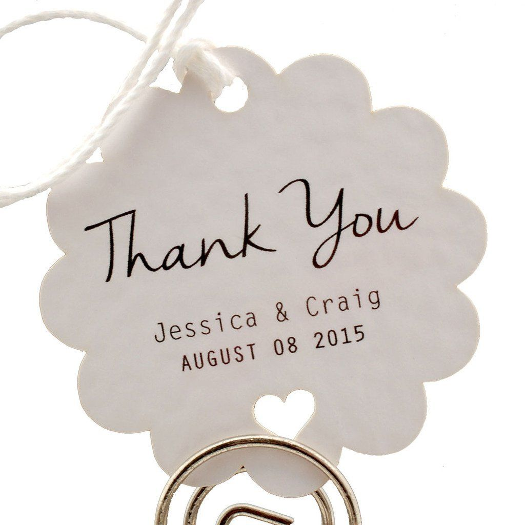 Summer-Ray.com 50 Personalized Mini White Wedding Favor Gift Tags ...