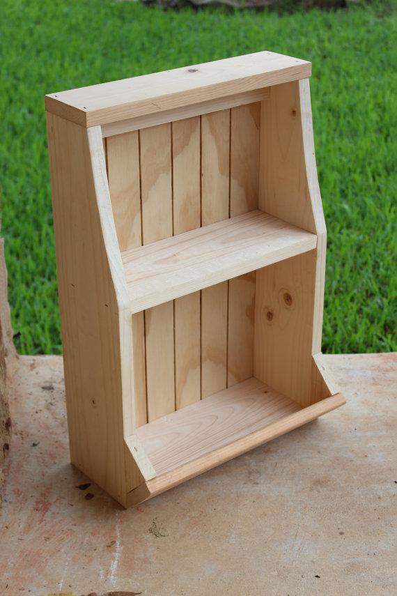 Unfinished Wall Shelf With Bin Diy 20 75 X 14 7 5 Wood Freestanding