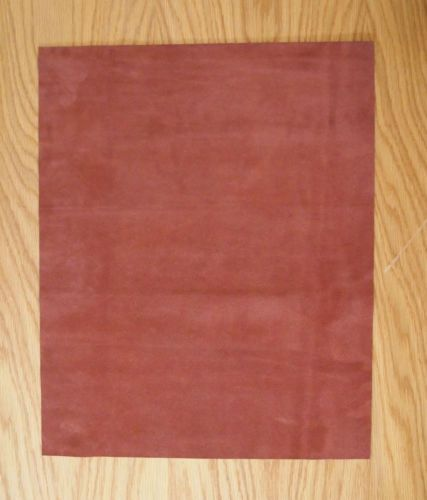 SUEDE LEATHER PIECES 1 @ 50CM X 40CM AUTUMN-RUST 1.4 mm THICK