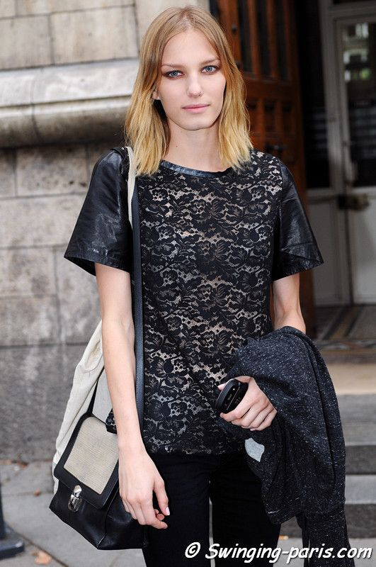 Marique Schimmel outside Felipe Oliveira Baptista show, Paris S/S 2013 RtW Fashion Week, September 2012