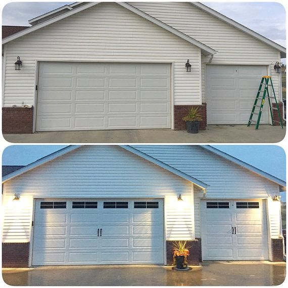 Vinyl Faux Carriage Garage Door Etsy Garage Door Design Carriage Garage Doors Garage Doors