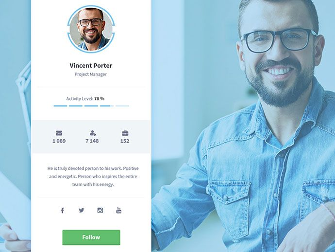 Brilliant Examples Of Ui Cards  User Profile Profile And Ui Ux
