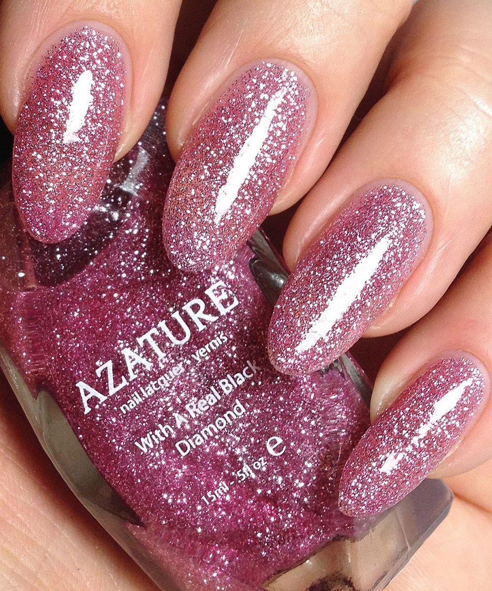 AZATURE Pink Diamond Nail Polish   Nail Polish   Pinterest   Diamond ...