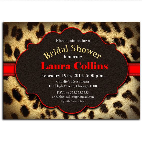 Leopard print bridal shower invitation hen by partyinkstudio leopard print bridal shower invitation hen by partyinkstudio filmwisefo Image collections
