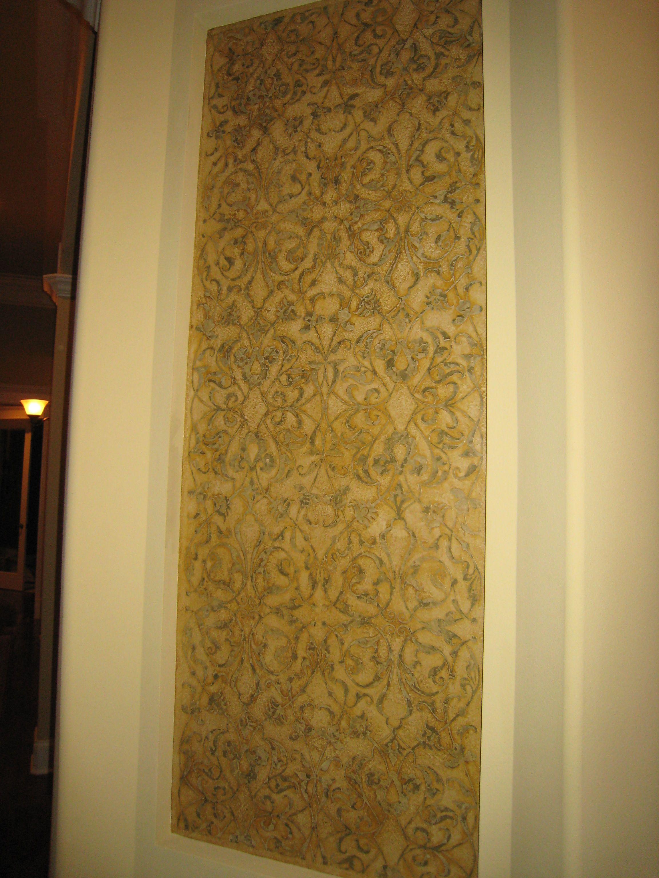 My work. Plaster and custom masking pattern