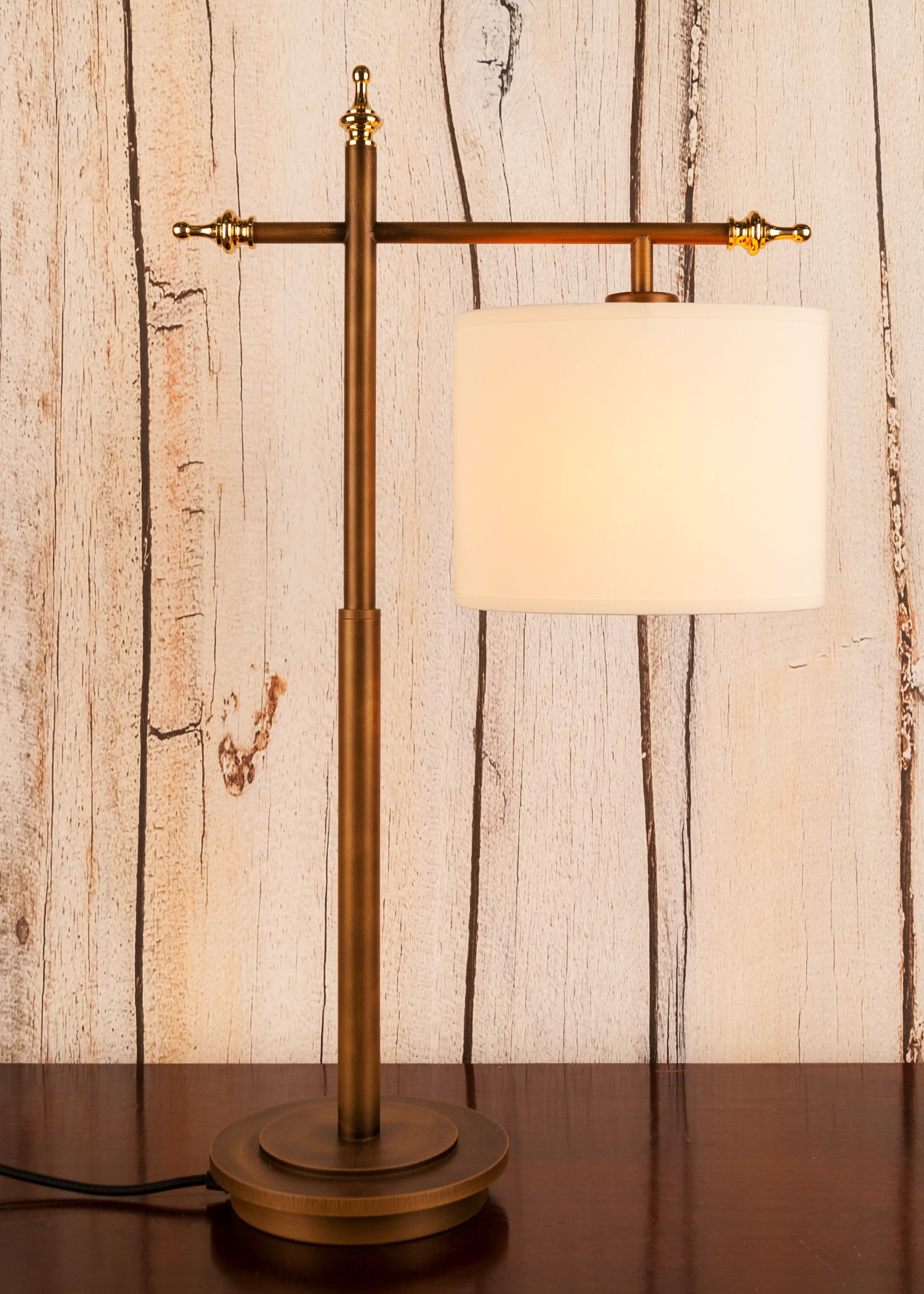 Medium Br Table Lamp Complete With Polished Detailing Part Of The Northern Lights Bar