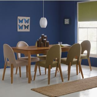 Emmett Extending Oak Dining Table & 6 Green Chairs From Homebase Mesmerizing Dining Room Furnitures Inspiration