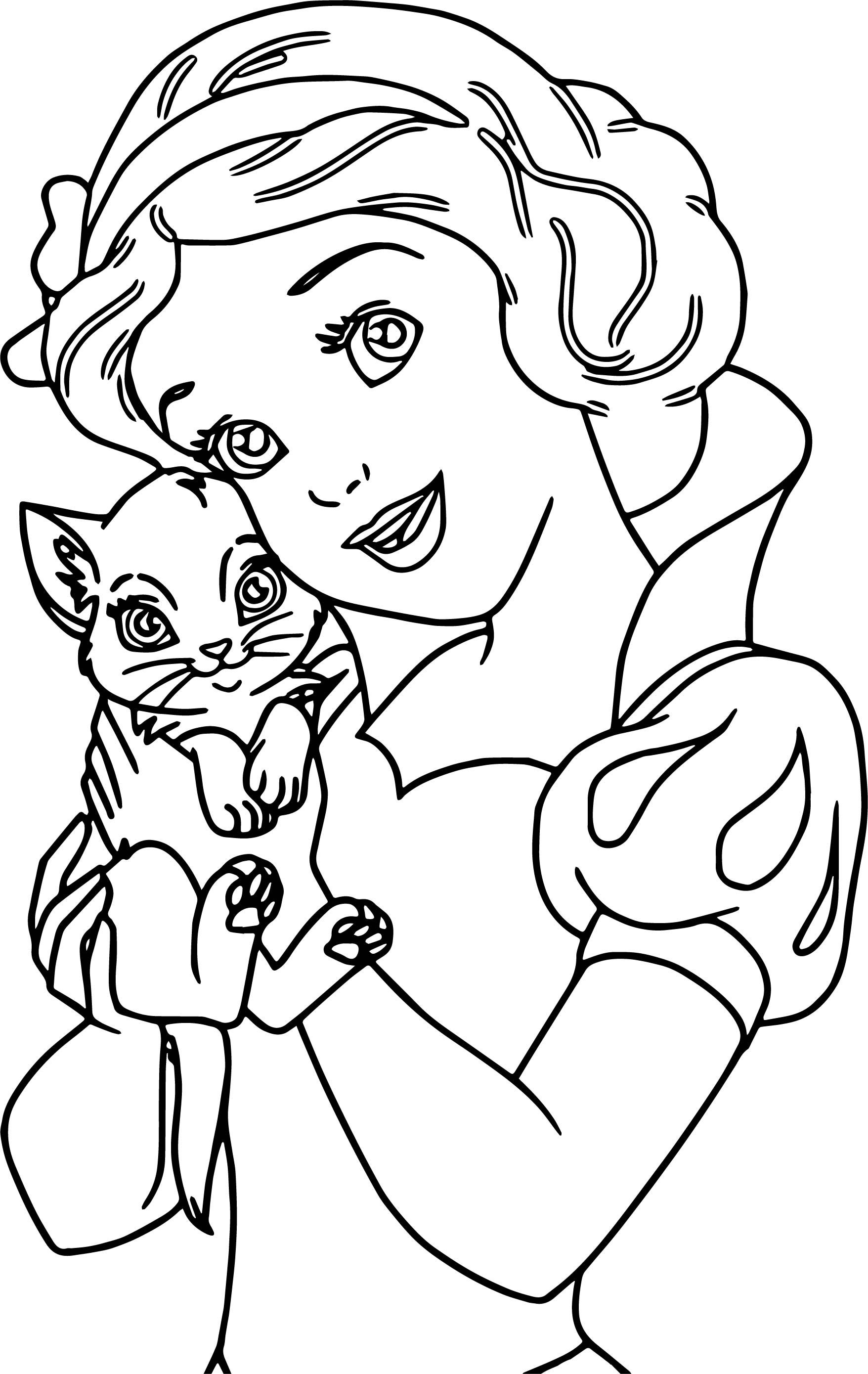 Snow White My Cat Coloring Page Cat Coloring Page Snow White Coloring Pages